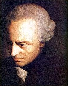 18c philosopher Immanuel Kant